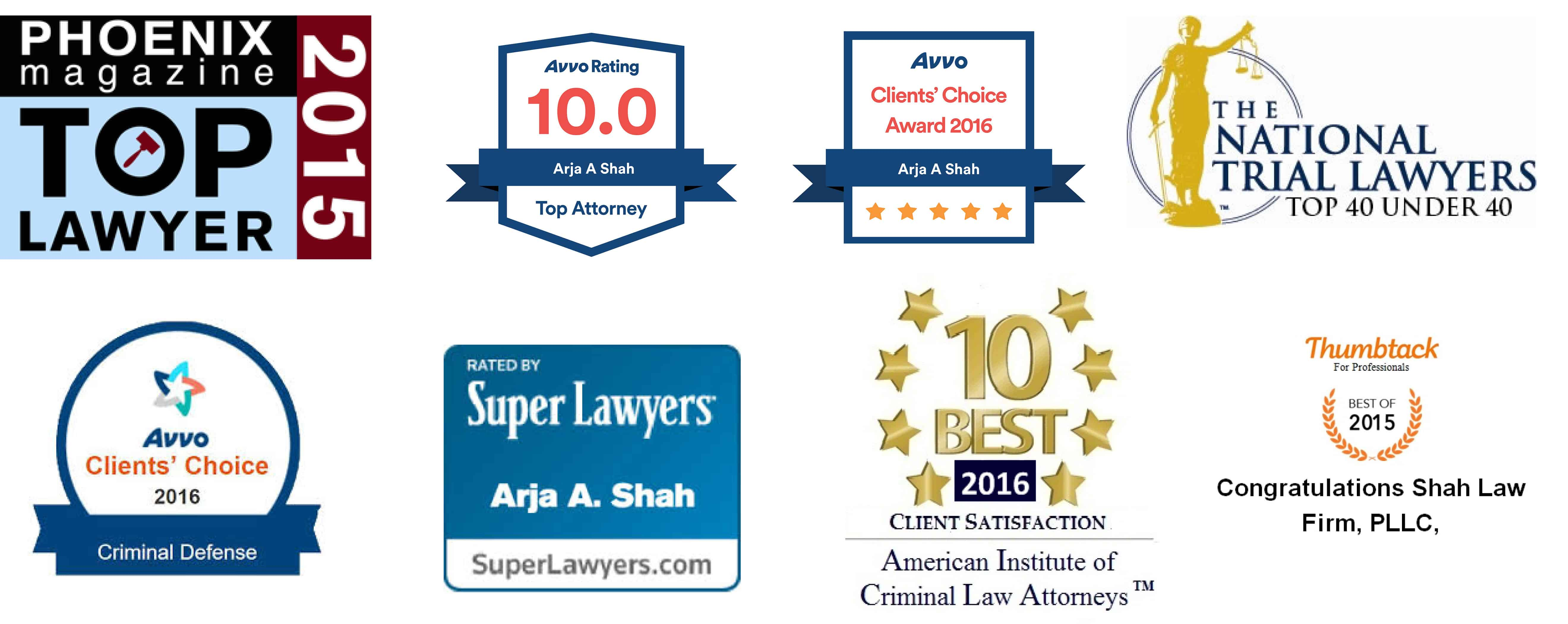 Shah Law Firm - Awards Logo