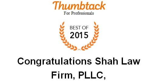 Shah Law Firm, PLLC - Thumbtack Best of 2015 Award