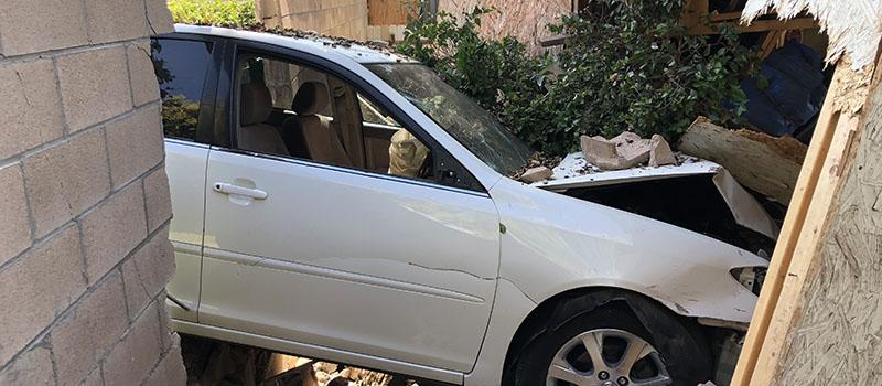 Car Drove Through Wall - Criminal Damage