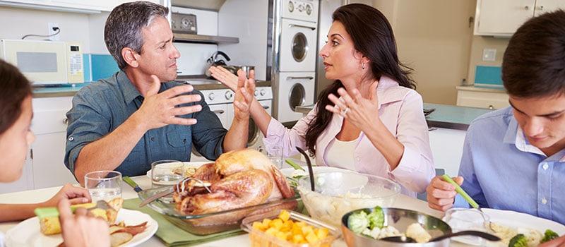 Family Arguing during Dinner