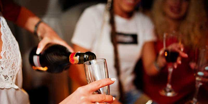 Passenger Drinking Alcohol in Ride Share, Uber, Lyft or Limo